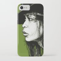 erykah badu iPhone & iPod Cases featuring Erykah Badu by ChrisGreavesArt