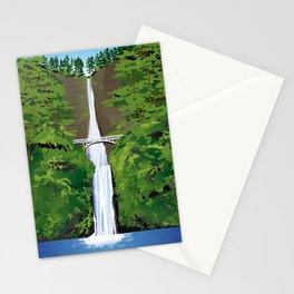 Multnomah Falls Illustration Stationery Cards