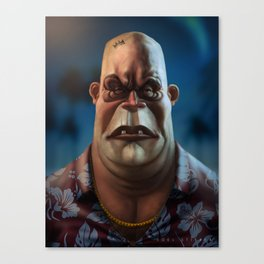 Mike Tyson Punch Out- King Hippo Canvas Print