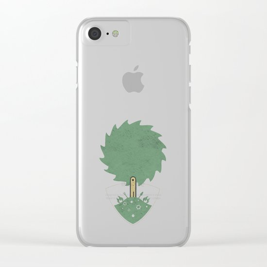 Christmas. For Men. Clear iPhone Case