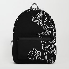 California poppy botanical minimalist line (Black) Backpack