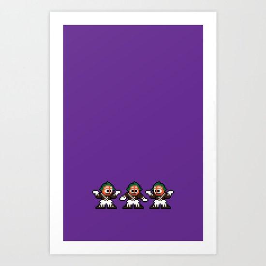Pixelly Wonka Art Print