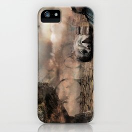 Abandoned Theme Park: Matte Painting iPhone Case
