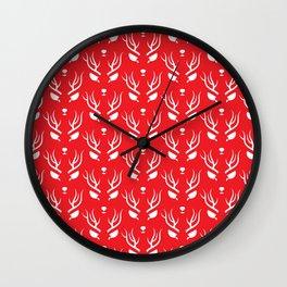 Antlers & Antlers Wall Clock