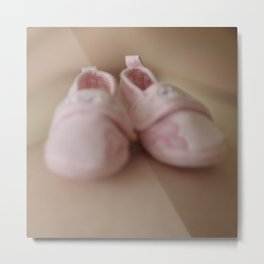 Baby shoes Metal Print