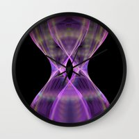 wasted rita Wall Clocks featuring Wasted pink by LoRo  Art & Pictures