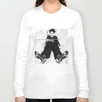 chaplin Long Sleeve T-shirts featuring CHAPLIN by Analy Diego