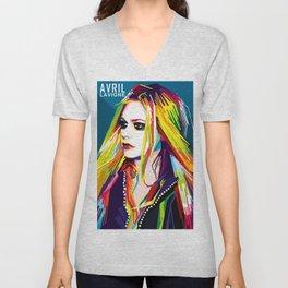 WPAP Avril Lavigne Unisex V-Neck