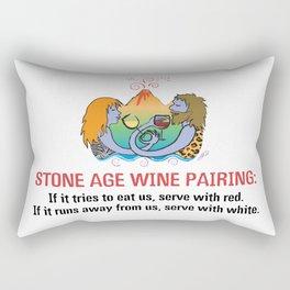 Stone Age Wine Pairing Rectangular Pillow