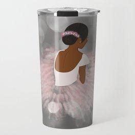 African American Ballerina Dancer Travel Mug