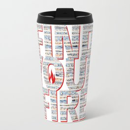 Find Your Fire Typography Travel Mug