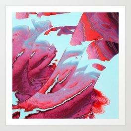 Swipe to red Art Print