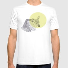 sleep tightly deer Mens Fitted Tee White MEDIUM