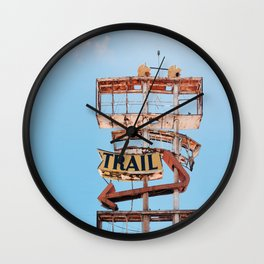 Vintage Neon Sign - The Spanish Trail -  Tucson Wall Clock