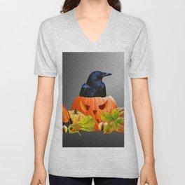 Halloween Pumpkins Chestnuts Black Raven #society6 #halloween Unisex V-Neck