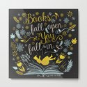 Books Fall Open, You Fall In - Black by evieseo