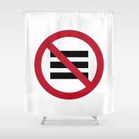 hamburger Shower Curtains featuring No Hamburger bar by Boback Shahsafdari