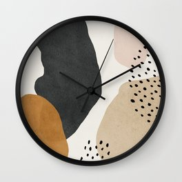 Woman silhouette art, Mid century modern art Wall Clock