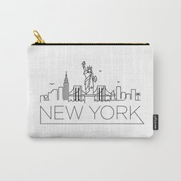 Minimal New York Skyline Design Carry-All Pouch