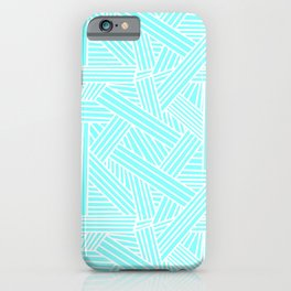 Sketchy Abstract (White & Aqua Pattern) iPhone Case