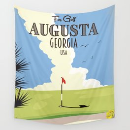 Augusta Georgia Golf Poster Wall Tapestry