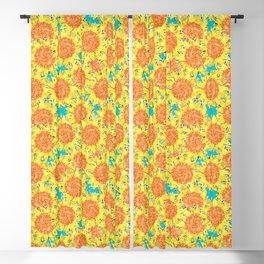 sunflower field Blackout Curtain