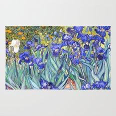 Vincent Van Gogh Irises Rug