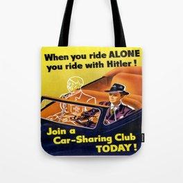 Vintage poster - Car-Sharing Club Tote Bag