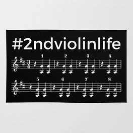 #2ndviolinlife (dark colors) Rug