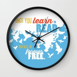 Forever Free - Just Read Wall Clock