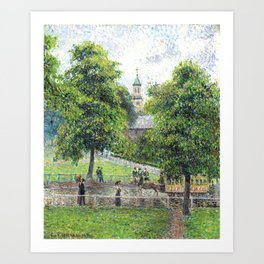"Camille Pissarro ""Saint Anne's Church at Kew"" (1892) Art Print"