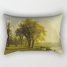 El Capitan Yosemite Valley 1875 By Albert Bierstadt | Reproduction Painting Rectangular Pillow