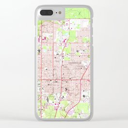 Vintage Map of Gainesville Florida (1966) Clear iPhone Case