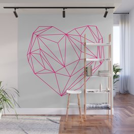 Heart Graphic Neon Version Wall Mural