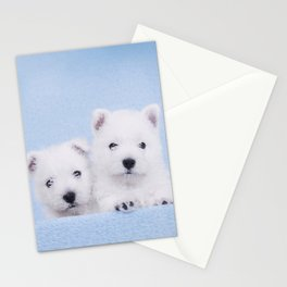 West Highland White Terrier puppies Stationery Cards