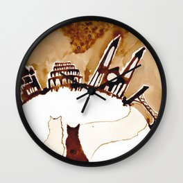 sitting and waiting for the world to fix itself Wall Clock