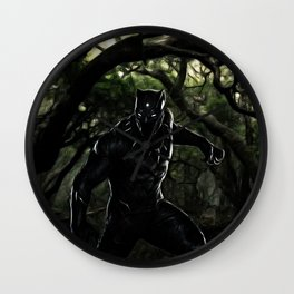 Big Cat On The Prowl Wall Clock