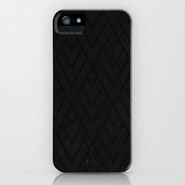Black Grunge Deco 001 iPhone Case