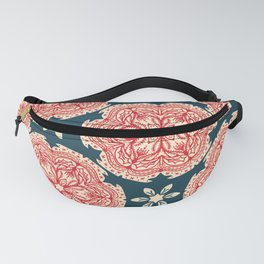 Hand drawn abstract Christmas flower pattern. Fanny Pack