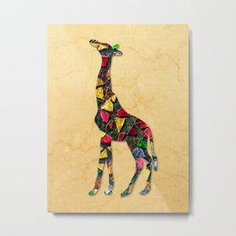 Animal Mosaic - The Giraffe Metal Print