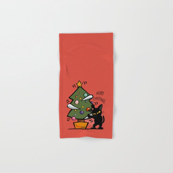 Cat Christmas Hand & Bath Towel