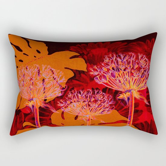 floral and leaves Rectangular Pillow