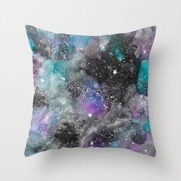 Galaxy Watercolor Throw Pillow
