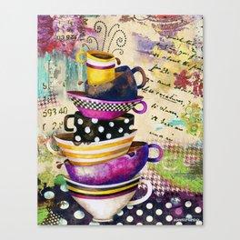 Coffee Cups Divine Dreamy Edition Canvas Print
