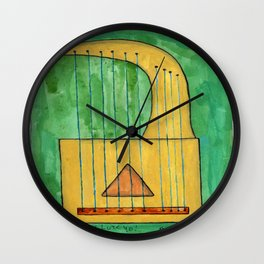 Lute Wall Clock
