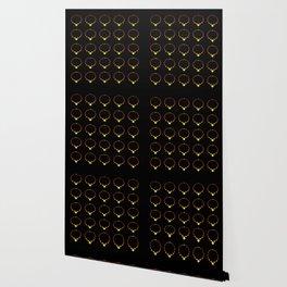 Beautiful Luminous Necklace Pattern on Black Illustration Wallpaper