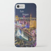 las vegas iPhone & iPod Cases featuring Las Vegas by Création Numérique du Rocher