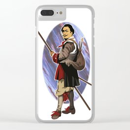 Painter Knights - Dalì Clear iPhone Case