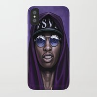 swag iPhone & iPod Cases featuring Purple Swag by Andrea Mangiri