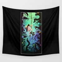 brad pitt Wall Tapestries featuring The Pitt by Richtoon